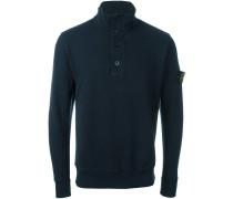 Sweatshirt mit kurzer Knopfleiste