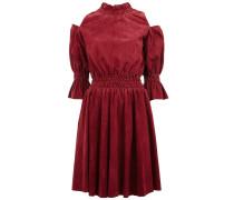 Schulterfreies Kleid aus Ziegenleder - women