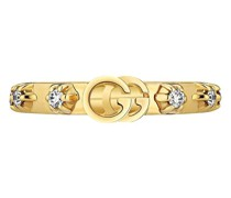 18kt 'GG Running' Ring mit Diamanten