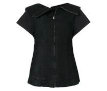 zipped fitted blouse