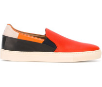 Slip-On-Sneakers in Colour-Block-Optik