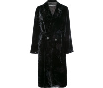 velvet double breasted coat