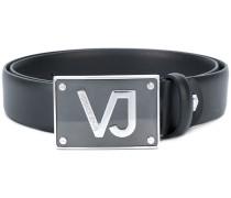logo plaque belt