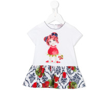 Kleid mit Print - kids - Baumwolle/Elastan - 18