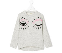 Sweatshirt mit Augenzwinkern-Print