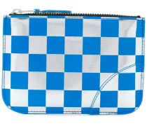 checked purse