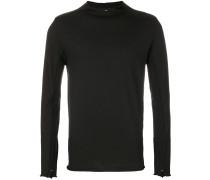 Pullover mit eingerolltem Saum
