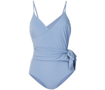 belted fitted swimsuit