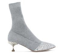 embellished sock ankle boots