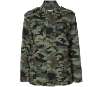 Cargo-Jacke mit Camouflage-Muster