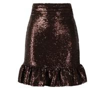 sequinned fishtail mini skirt