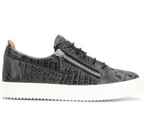 'Frankie' Sneakers mit Kroko-Optik