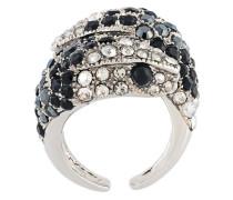 'Serpent' Ring mit Swarovski-Kristallen