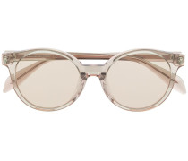 Runde Sonnenbrille mit Totenkopf