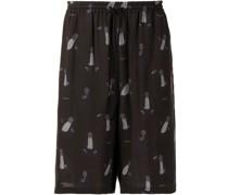 Tencel-Shorts mit grafischem Print