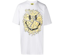 "T-Shirt mit ""Glass Smiley""-Print"