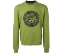 Sweatshirt mit Medusa-Stickerei