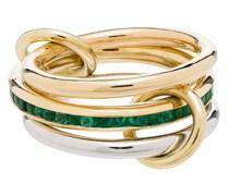 18kt 'Rene' Goldring mit Smaragd