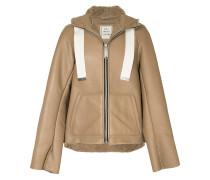 hooded shearling jacket