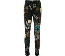 graffiti skinny jeans