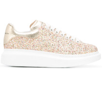 extended sole glitter sneakers