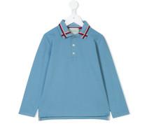 web detail polo shirt