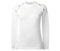 gold-tone shoulder detail jumper