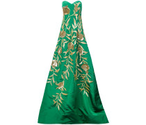 pomegranate embroidered gown