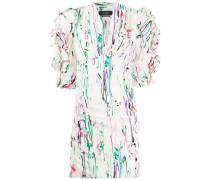 Enges Kleid mit Textmarker-Print