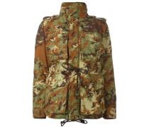 Gefütterte Jacke mit Camouflage-Print - women