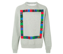 pixel printed sweatshirt