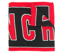 logo knitted scarf
