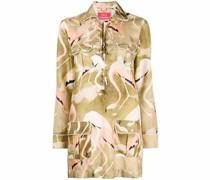 Hemdkleid mit Flamingo-Print