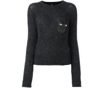 Pullover mit verzierter Brusttasche - women