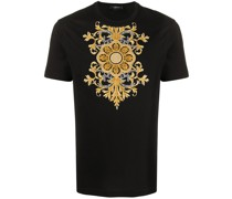 T-Shirt mit barocker Stickerei