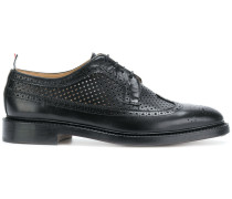 Classic Longwing Brogue With Leather Sole In Perforated Calf Leather