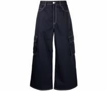 Weite Jeans mit Cargotaschen