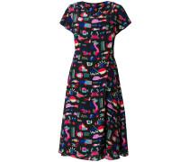sea print midi dress