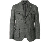tweed fitted blazer