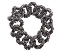 Breites Silberarmband mit Diamanten