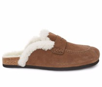 WOMEN'S SHEARLING LOAFER - LEATHER
