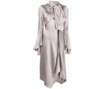 Drapiertes Kleid im asymmetrischen Look
