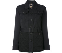 quilted detail fitted jacket - women