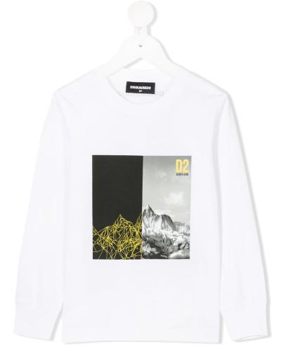 Sweatshirt mit Landschafts-Print