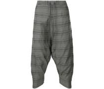 drop-crotch drawstring trousers