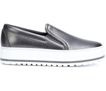Slip-On-Sneakers aus Kalbsleder