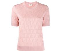 Gestricktes T-Shirt mit FF-Muster