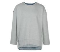 Sweatshirt mit Jeanseinsatz