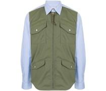 panelled combination shirt