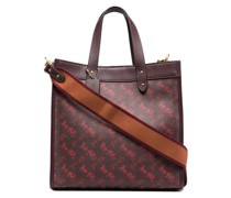Handtasche mit Monogrammmuster